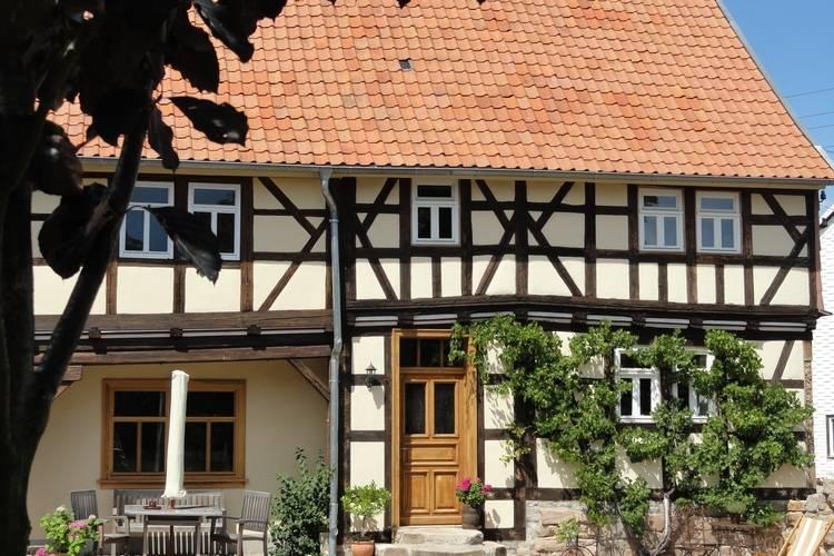 Fachwerkhaus Laucha Thuringia Germany